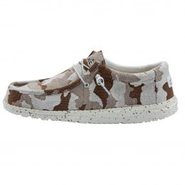Hey Dude Brown Camo Wally Stretch Mens Casual Shoes 110387010