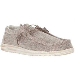 Hey Dude Beige Wally Woven Mens Shoes 110390500-BEIGE