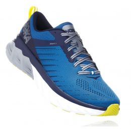 Hoka Blue Sapphire/Mood Indigo Arahi 3 Cushioned Mens Wide Athletic Running Shoes 1104098