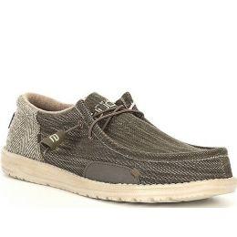 Hey Dude Herringbone Nut Wally Funk Mens Casual Shoes 110411618