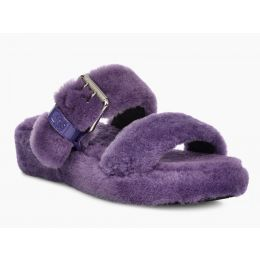 UGG FUZZ YEAH Violet Bloom Purple Sheepskin Womens Slippers 1104662