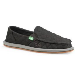 Sanuk Dark Charcoal Donna Quilt Womens Sidewalk Surfers 1105056