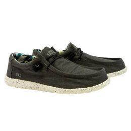 Hey Dude Men's Black Brick Wally Stretch Slip-On Shoe 110534971