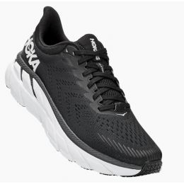 Hoka Black/White Clifton 7 Mens Road Running Shoes 1110508/34