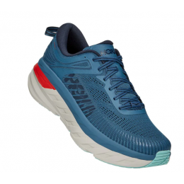 Hoka Real Teal with Outer Space Bondi 7 Mens Running Shoes 1110518-30-RTOS