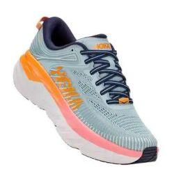 Hoka Blue Haze/Black Iris Bondi 7 Womens Road Running Shoes 1110519