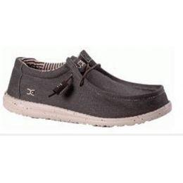 Hey Dude Chocolate Wally Stretch Mens Shoes 111161900-CHOC