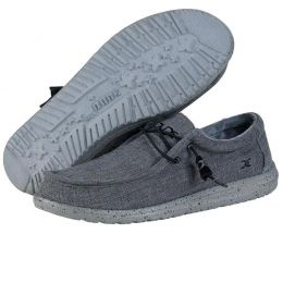 Hey Dude Steel Wally Stretch Mens Comfort Slide On Shoes 111163200