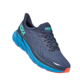 Hoka Outer Space with Vallarta Blue Clifton 8 Men's Running Shoes 1119393/74-OSVB