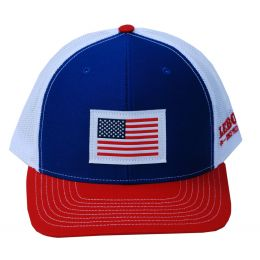 Richardson Custom Woven American Flag Patch Royal Blue/White/Red OSFM Ballcap 112-RWRE-USA