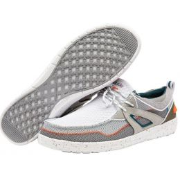 Hey Dude White Grey Wally Storm Mens Casual Shoes 112230105
