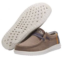 Hey Dude Natural Beige Wally Free Mens Casual Shoes 112270562