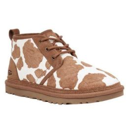 Ugg Cow Print Mesa and Sand Neumel Womens Booties 1123651-MSS
