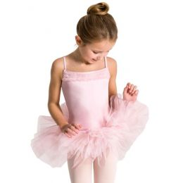 Capezio Pink Ruffle Yoke Girls Tutu Dress 11307C
