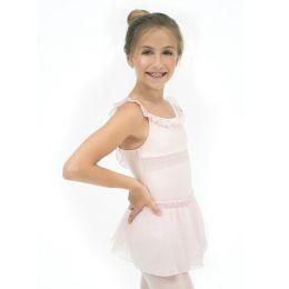 Capezio Pink Smocking Girls Pull On Skirt 11499C