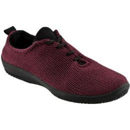 1151-LS-16 Bordeaux Stretch Knit Lace-Up Arcopedico Womens Shoes