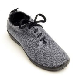 1151-LS-23 Grey Stretch Knit Lace-Up Comfort Arcopedico Womens Shoes