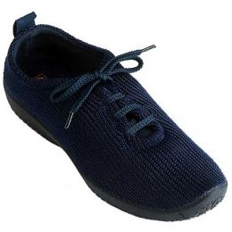 1151-LS-09 Navy Stretch Knit Lace-Up Comfort Arcopedico Womens Shoes