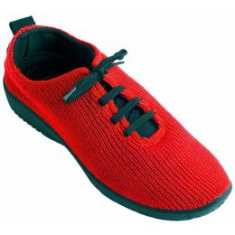1151-LS-06 Red Stretch Knit Lace-Up Comfort Arcopedico Womens Shoes