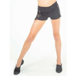 Capezio Black Damask Adult Shorts with Briefs 11510W