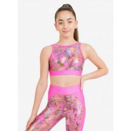 Capezio Pink Kinetic Explosion Girls Tank Bra Top
