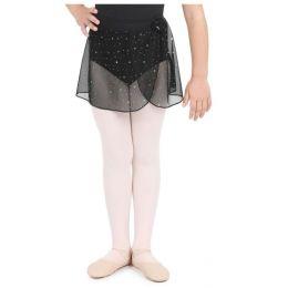 Capezio Glitter Rose Pull On Girls Dance Skirt 11530C