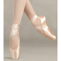 115 Glisse Pro European Pink Pointe Ballet Shoes Sizes 4-10 M, W, WW