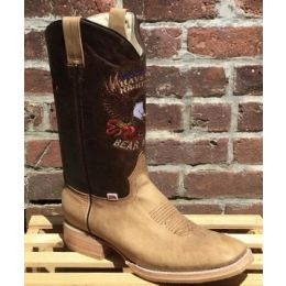 Rockin Leather Mens Brown Right To Bear Arms Pull On Western Boots 1199