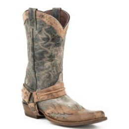 Karman Roper Black Sundance Kid Mens Harness Boots 1202061040835BL