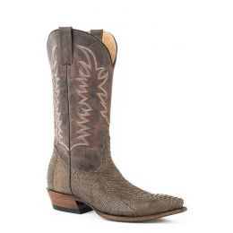 Karman Roper Tan Python Belly Mens Snip Toe Western Boots 1202061184029TA