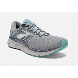 Brooks Grey/Aqua/Ebony Glycerin 17 Womens Road Running Shoes 120283-070