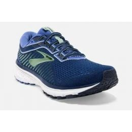 Brooks Peacost, Blue and Aqua Womens Ghost 12 Comfort Running Shoe 120305-413