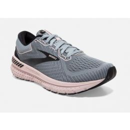 Brooks Grey/Black/Violet Transcend 7 Womens Road Running Comfort Shoes 120319-074