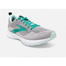 Brooks Grey/Aqua Revel 4 Womens Road Running Comfort Shoes 120337-073
