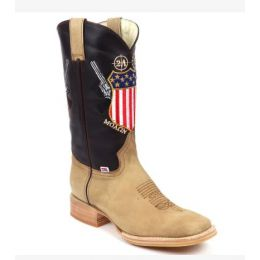 RockinLeather Tan Molon Labe 2nd Amendment Men's Western Boot 1207