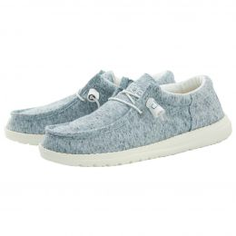 Hey Dude Wally Blue Womens Casual Shoes 121302616
