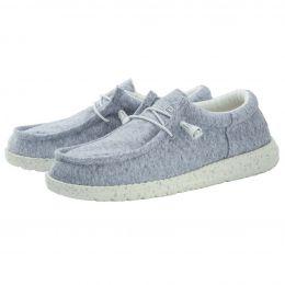 Hey Dude Wally Light Grey Womens Casual Shoes 121303013