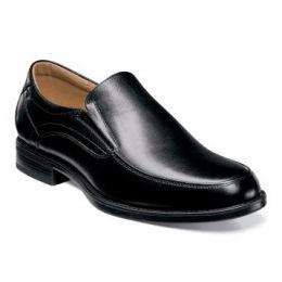 Florsheim Midtown Moc Slip On Black Leather Mens Dress 12137-001