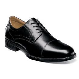 Florsheim Midtown Cap Toe Oxford Black Leather Mens Dress 12138-001
