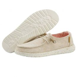Hey Dude Chambray White Nut Wendy Linen Shoes 121410121