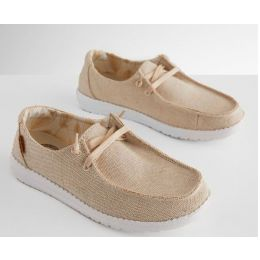 Hey Dude Ladies Wendy Beige Gold Slip On Shoe 121410543