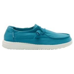Hey Dude Women's Wendy Washed Canvas Azur Caribbean Slip On Shoes 121412110