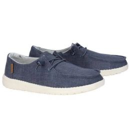 Hey Dude Chambray Blue & White Wendy Womens Casual Shoes 121412526