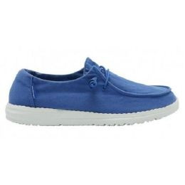 Hey Dude Women's Wendy Blue Nautical Slip On Shoes 121412641