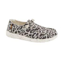 Hey Dude Women's Wendy Woven Cheetah Slip-On Comfort Shoe 121413091
