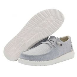 Hey Dude Glacier Grey Wendy Stretch Womens Casual Shoes 121413220