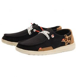 Hey Dude Star Black Wendy Jungle Casual Shoes 121414975