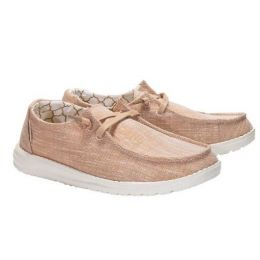 Hey Dude Women's Wendy Sparkling Rose Gold Slip On Shoes 121415016