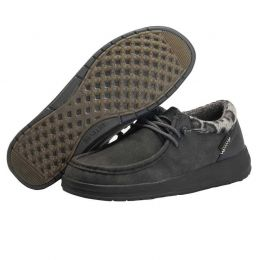 Hey Dude Total Black Polly Womens Casual Shoes 1214884938