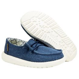 Hey Dude Sparkling Denim Wendy Youth Casual Shoes 130122411